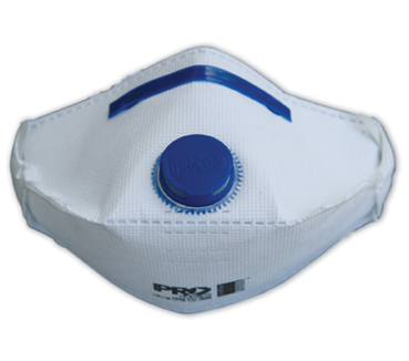 Flat Fold Disposable Dust Masks - P2 Valved x 12 Masks