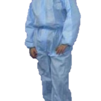 Blue SMS Triple Layer Disposable Overalls