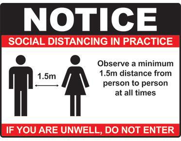 Social Distancing Sign - Poly - Australian Made