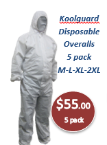 Koolguard - Disposable Overalls White