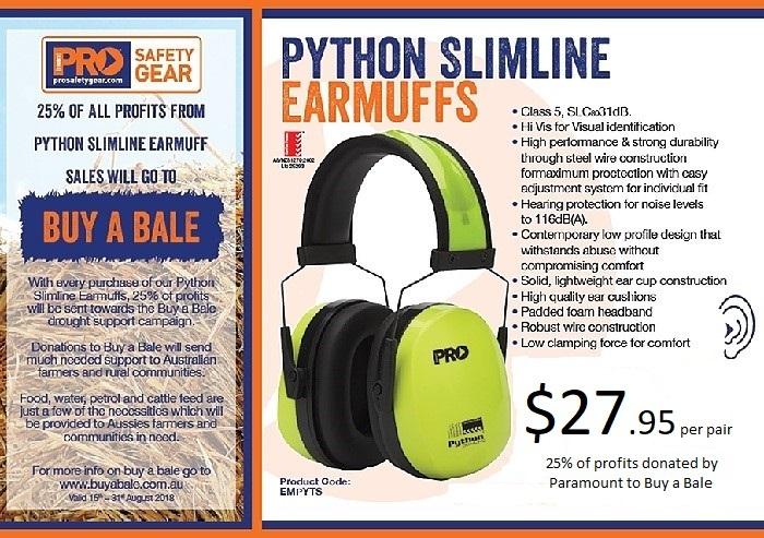 Hi Vis Python Slimline Earmuffs Class 5
