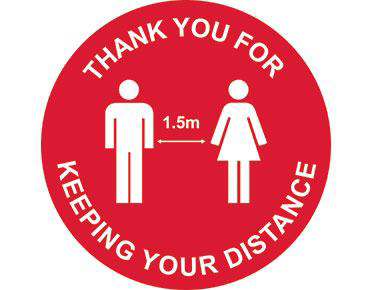 Floor Decal - Round 400mm - Person Image