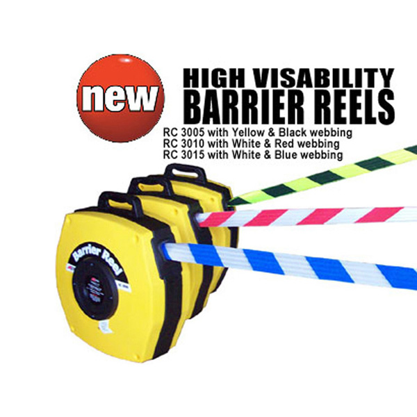 Retractable Safety Barrier on a reel