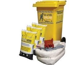 Eco Spill Kit 120lt Wheelie Bin