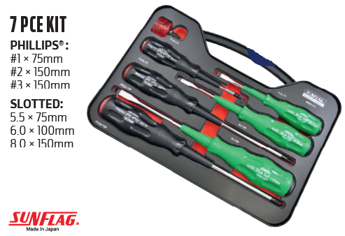Sunflag Screwdriver Set - 7 Piece