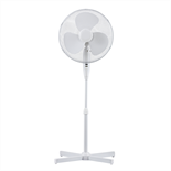 40cm White Pedestal Fan - Office Fan