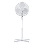 40cm White Pedestal Fan - Office Fan