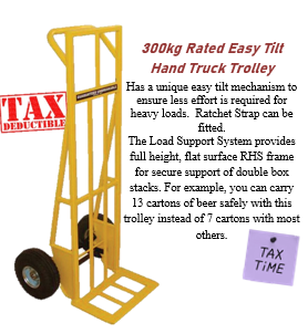 300kg Rated Easy Tilt Hand Truck Trolley