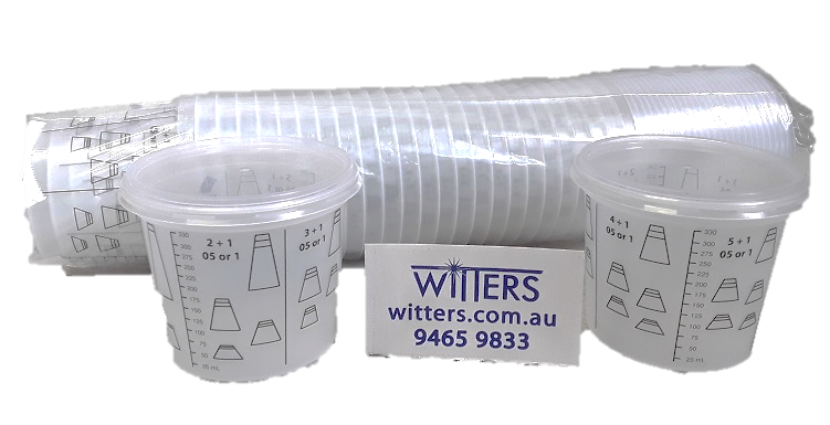 Paint Mixing Cups x 25 (with Lids) - Aussie Made